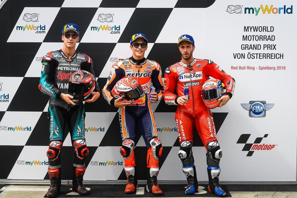Kualifikasi MotoGP 2019, Austria: Pole Position Milik Marquez