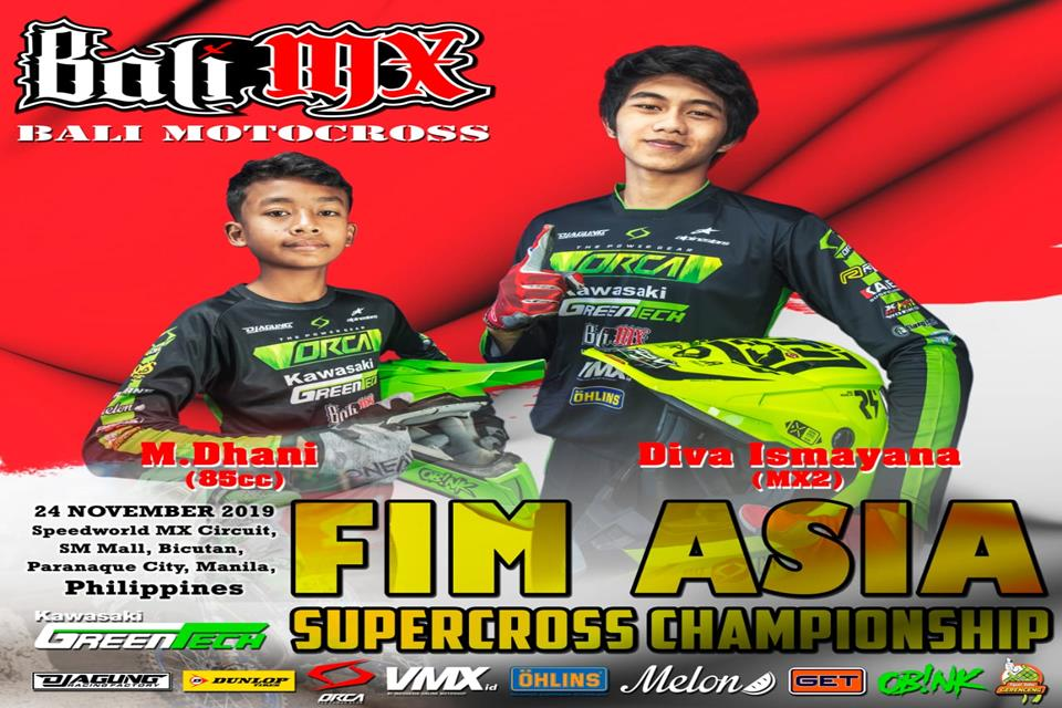 Diva dan Dhani Jadi Wakil Indonesia di FIM Asia Supercross Championship 2019