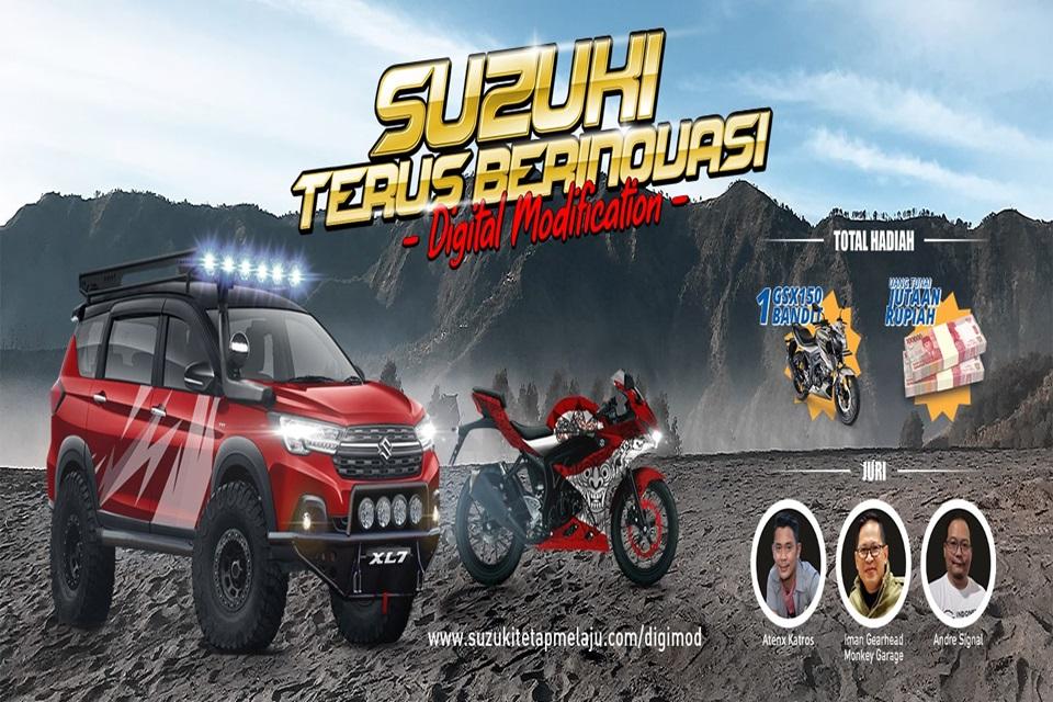 Suzuki Gelar Kontes Modifikasi Digital, Berhadiah Motor dan Uang Jutaan Rupiah