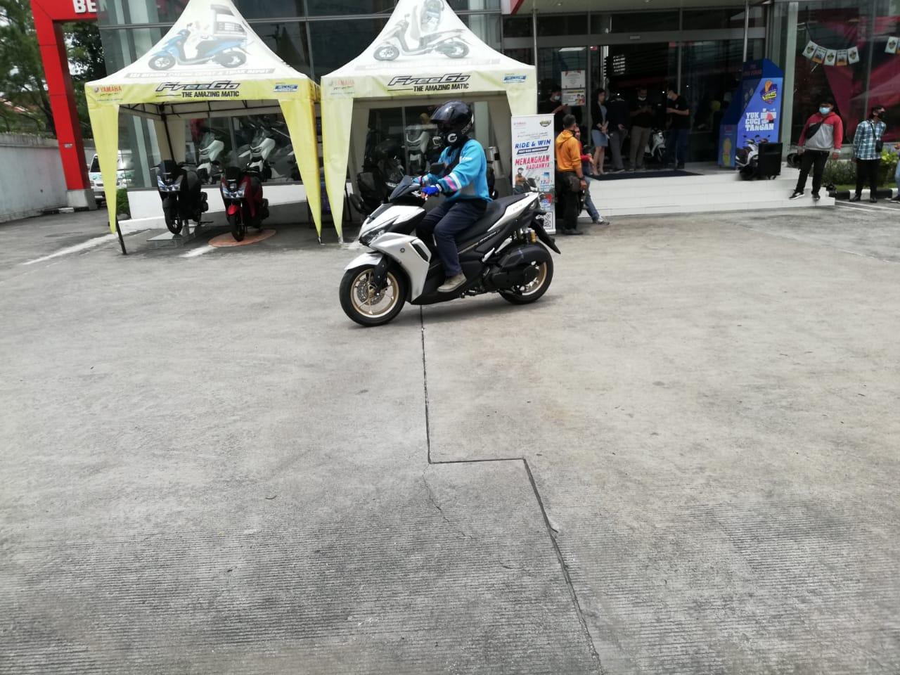 All New Aerox 155 Connected Kali Ini dijajal Media Jawa Tengah & Yogyakarta